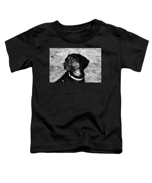 Gus - Black And White Toddler T-Shirt