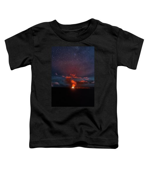 Halemaumau Crater At Night Toddler T-Shirt