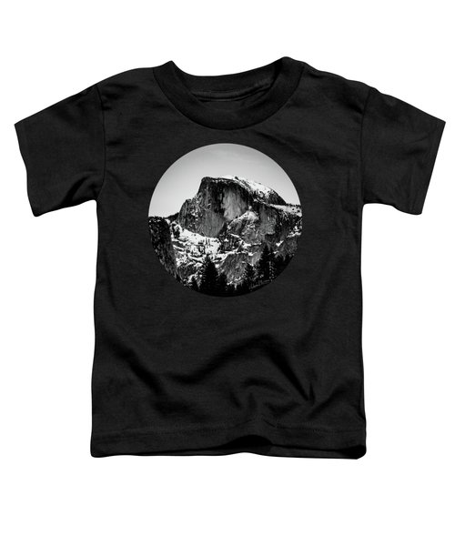 Half Dome Aglow, Black And White Toddler T-Shirt by Adam Morsa
