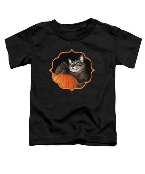 Halloween Cat Toddler T-Shirt by Anastasiya Malakhova