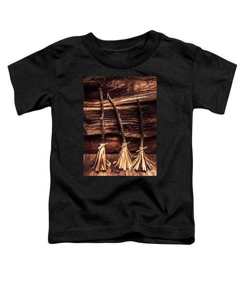 Halloween Witch Brooms Toddler T-Shirt