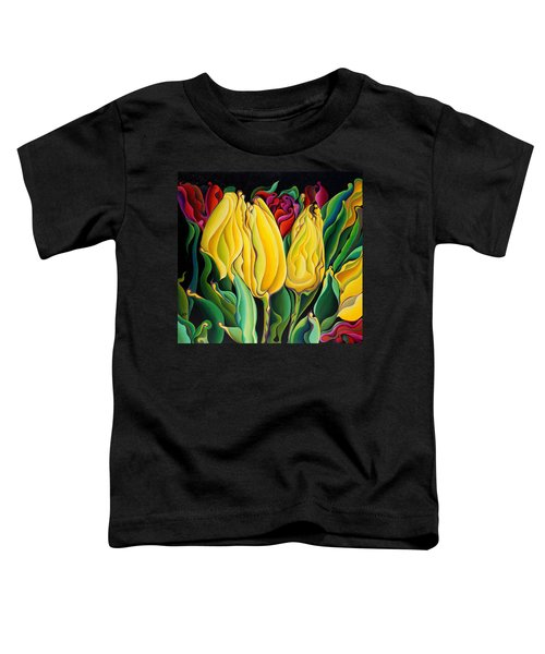 Happy-time Yellow Three-lips Toddler T-Shirt