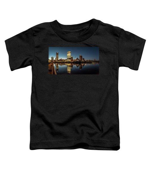 Harbor House View Toddler T-Shirt by Randy Scherkenbach