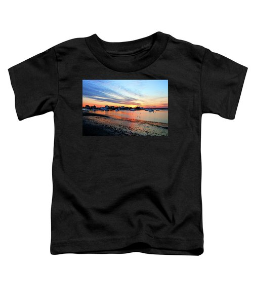 Harbor Sunset At Low Tide Toddler T-Shirt