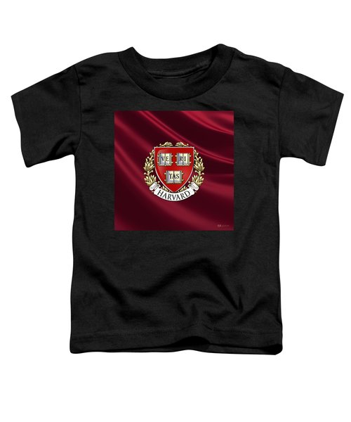Harvard University Seal Over Colors Toddler T-Shirt