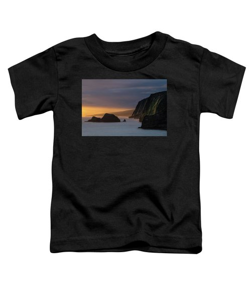 Hawaii Sunrise At The Pololu Valley Lookout Toddler T-Shirt