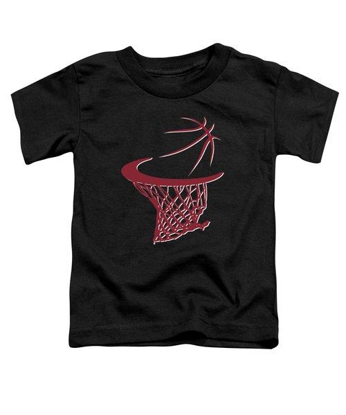 Heat Basketball Hoop Toddler T-Shirt