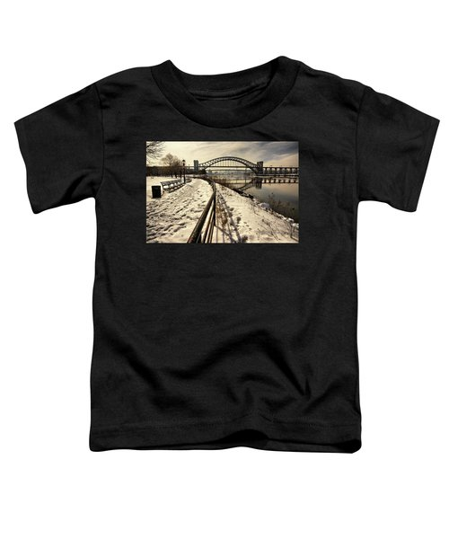 Hellgate Bridge In Winter Toddler T-Shirt