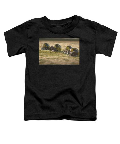 Helmets In Golden Dawn Sunlight Toddler T-Shirt