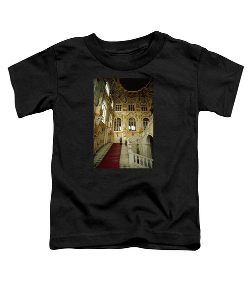Toddler T-Shirt featuring the photograph Hermitage Staircase by Travel Pics