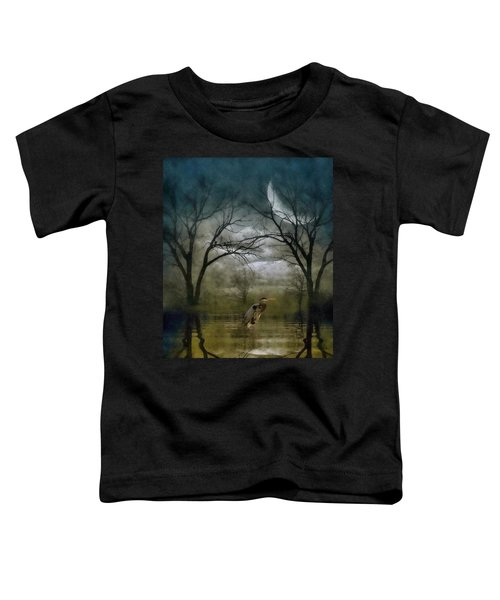 Heron By Moon Glow  Toddler T-Shirt