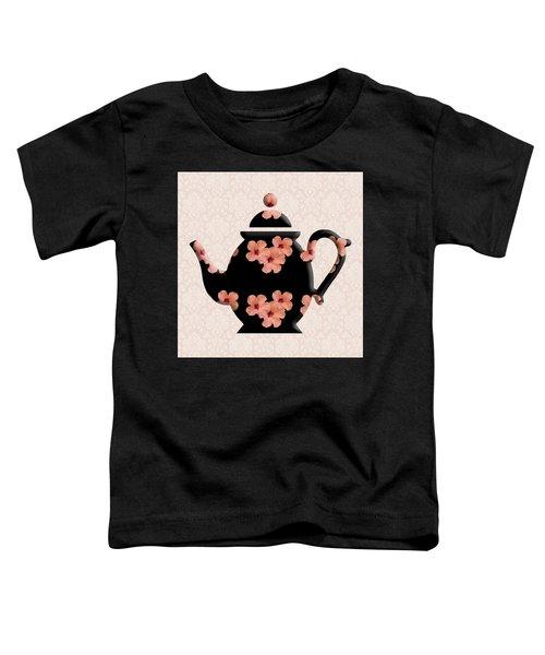 Hibiscus Pattern Teapot Toddler T-Shirt