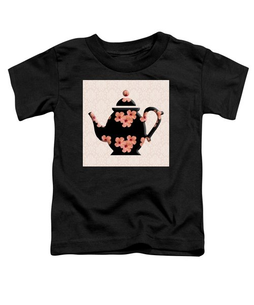 Hibiscus Pattern Teapot Toddler T-Shirt