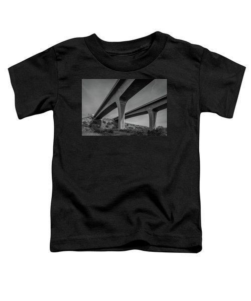 Highway 52 Over Spring Canyon, Black And White Toddler T-Shirt