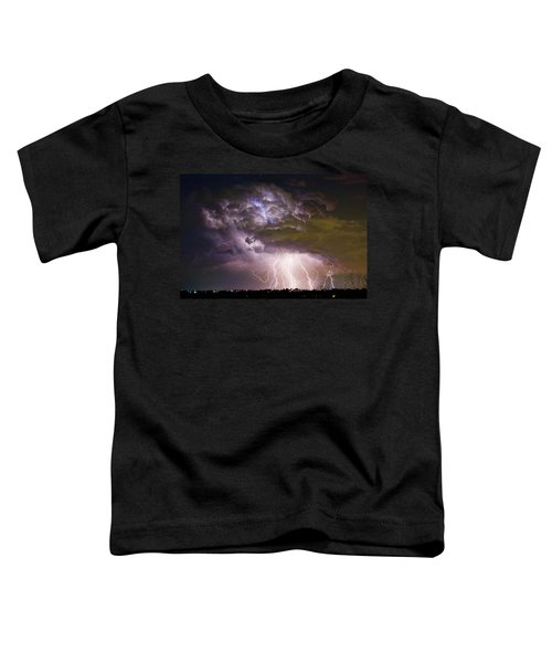 Highway 52 Storm Cell - Two And Half Minutes Lightning Strikes Toddler T-Shirt
