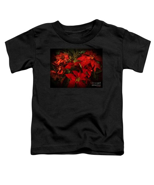 Holiday Painted Poinsettias Toddler T-Shirt