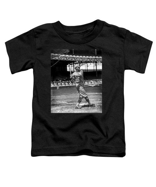Home Run Babe Ruth Toddler T-Shirt by Jon Neidert