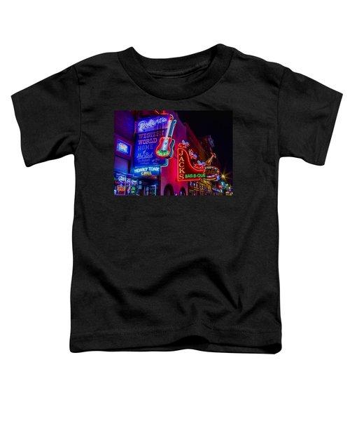 Honky Tonk Broadway Toddler T-Shirt by Stephen Stookey