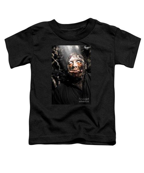 Horror Zombie With Finger Food. Bad Taste Toddler T-Shirt