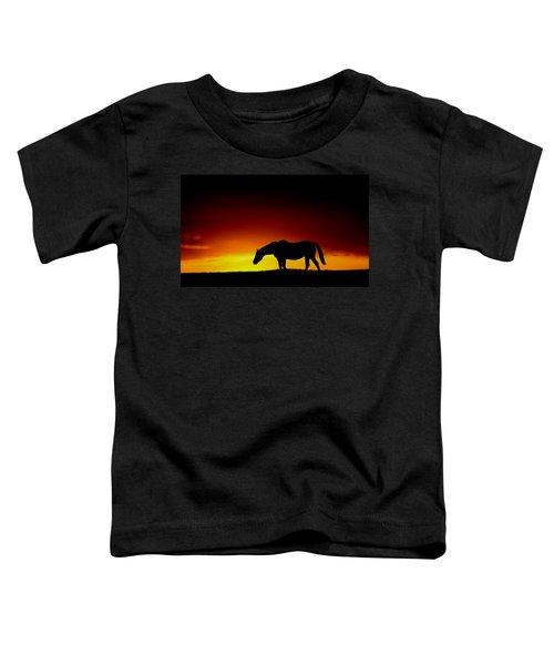 Horse At Sunset Toddler T-Shirt