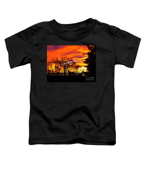 Horses Under A Painted Sky Toddler T-Shirt