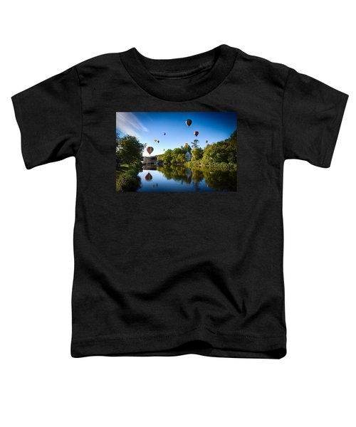 Hot Air Balloons In Quechee Toddler T-Shirt