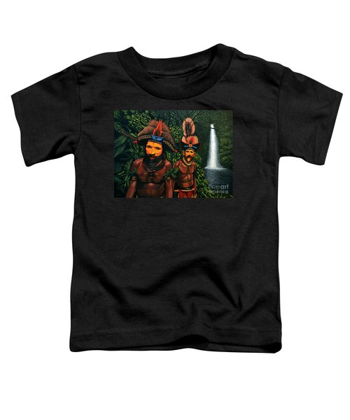 Huli Men In The Jungle Of Papua New Guinea Toddler T-Shirt
