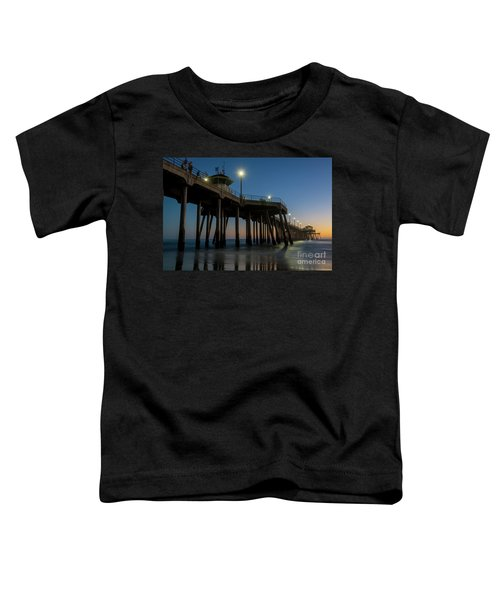 Huntington Beach Pier At Dusk Toddler T-Shirt