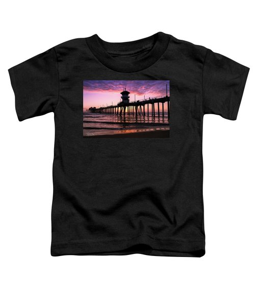 Huntington Pier At Sunset 2 Toddler T-Shirt