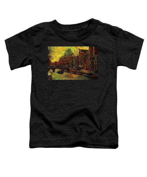 I Amsterdam. Vintage Amsterdam In Golden Light Toddler T-Shirt