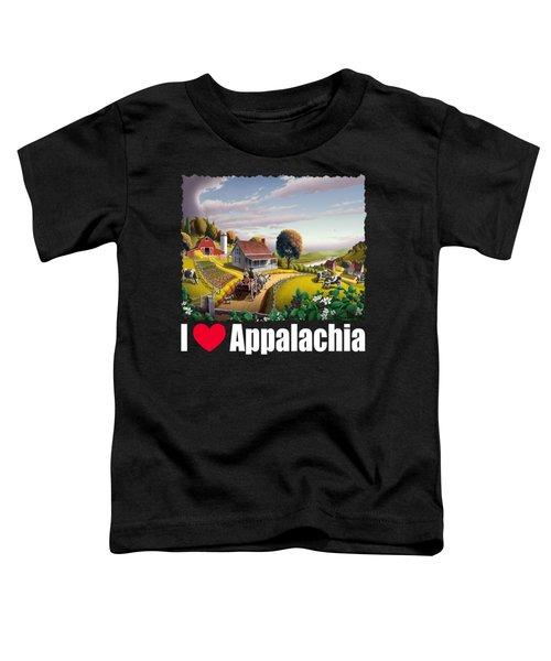 I Love Appalachia T Shirt - Appalachian Blackberry Patch Toddler T-Shirt