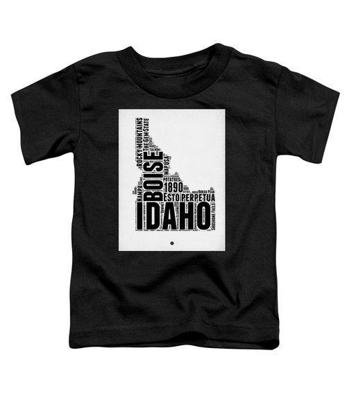Idaho Word Cloud 2 Toddler T-Shirt