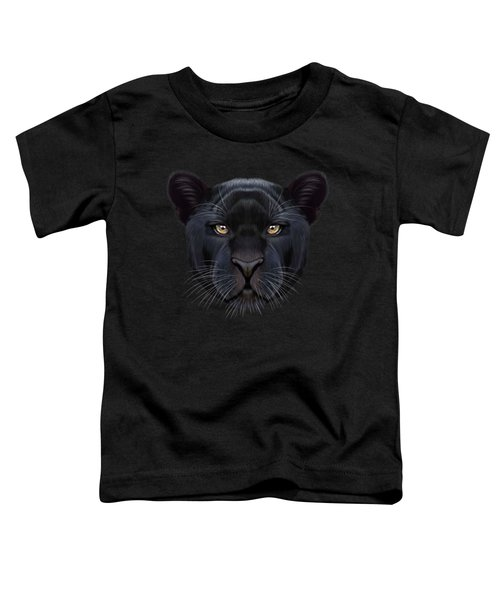 Illustrated Portrait Of Black Panther.  Toddler T-Shirt by Altay Savrukov
