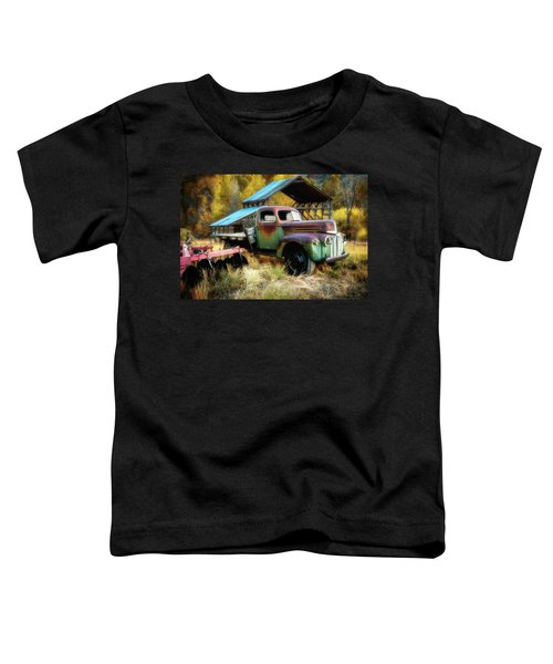 In The Autumn Of Life - 1945 Ford Flatbed Truck Toddler T-Shirt