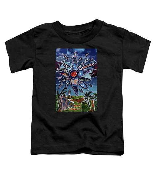 Industrial Flower Toddler T-Shirt