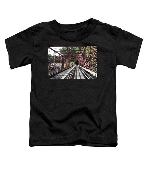 Inside The Bollman Truss Bridge At Savage Maryland Toddler T-Shirt