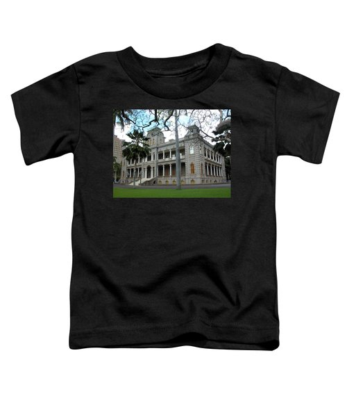Toddler T-Shirt featuring the photograph Iolani Palace, Honolulu, Hawaii by Mark Czerniec