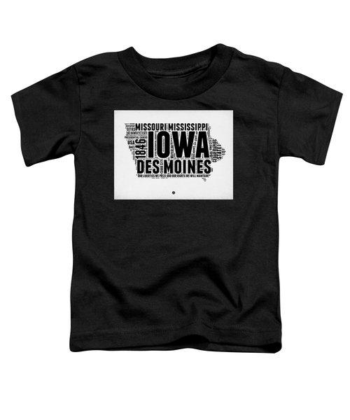 Iowa Word Cloud 2 Toddler T-Shirt