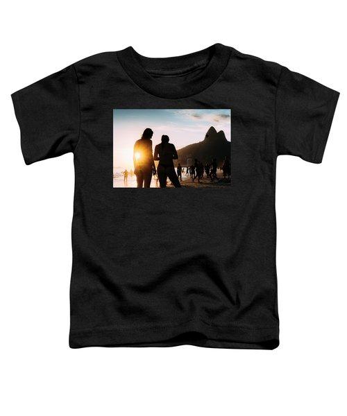 Ipanema, Rio De Janeiro, Brazil At Sunset Toddler T-Shirt