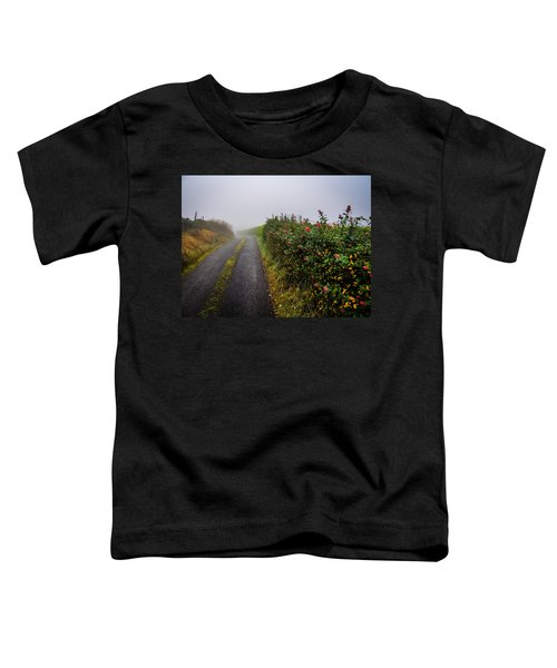 Toddler T-Shirt featuring the photograph Irish County Road In Autumn by James Truett