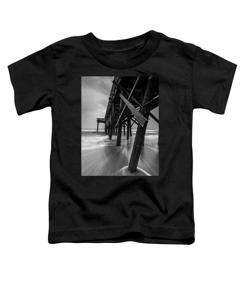 Isle Of Palms Pier Water In Motion Toddler T-Shirt