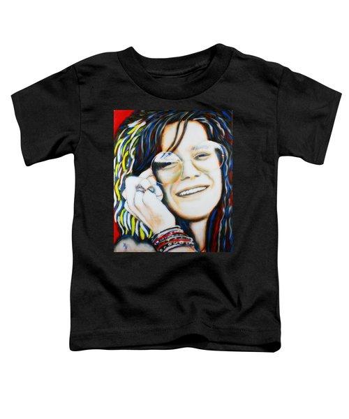 Janis Joplin Pop Art Portrait Toddler T-Shirt