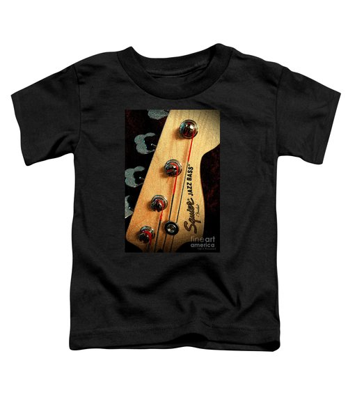 Jazz Bass Headstock Toddler T-Shirt