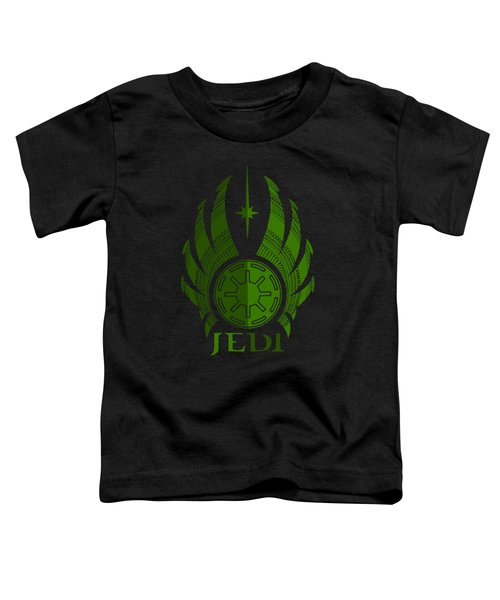 Jedi Symbol - Star Wars Art, Green Toddler T-Shirt