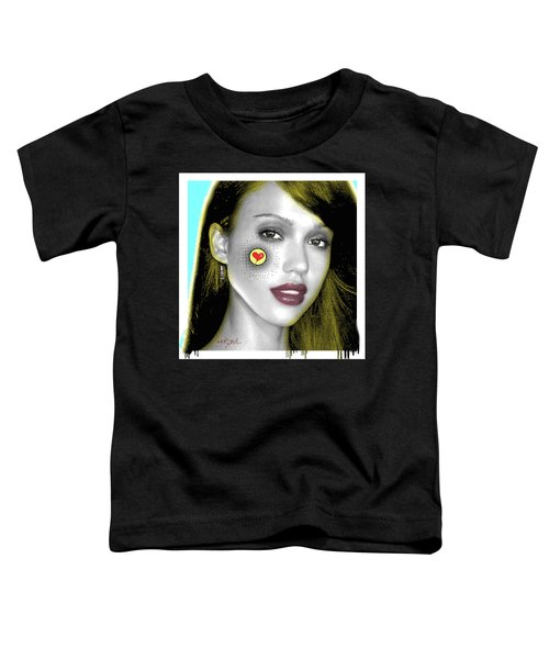 Jessica Alba Pop Art, Portrait, Contemporary Art On Canvas, Famous Celebrities Toddler T-Shirt by Dr Eight Love