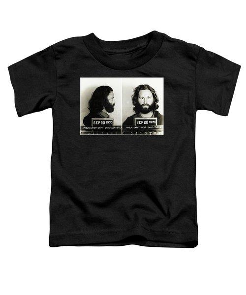 Jim Morrison Mugshot Toddler T-Shirt