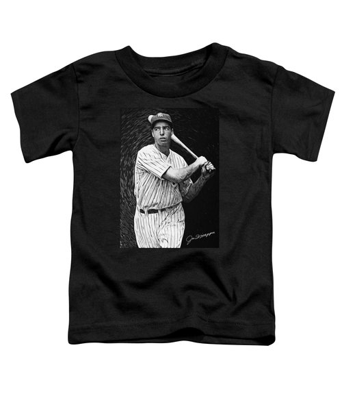 Joe Dimaggio Toddler T-Shirt by Taylan Apukovska
