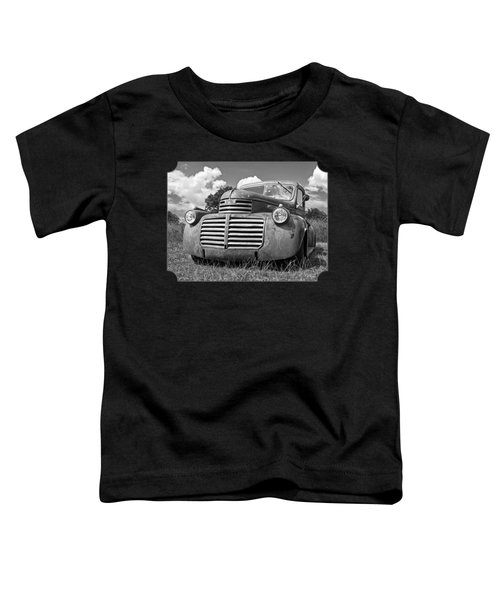 Just Resting - Vintage Gmc Truck Black And White Toddler T-Shirt