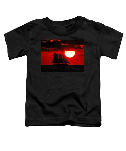 Key West Sunset Sail Silhouette Toddler T-Shirt