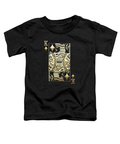 King Of Diamonds In Gold On Black  Toddler T-Shirt